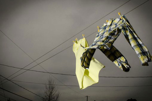 Giặt quần áo vào buổi sáng sớm