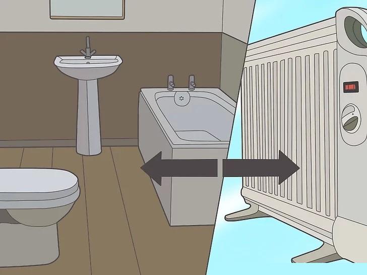Giữ một lò sưởi di động tránh xa nước hoặc những nơi ẩm ướt