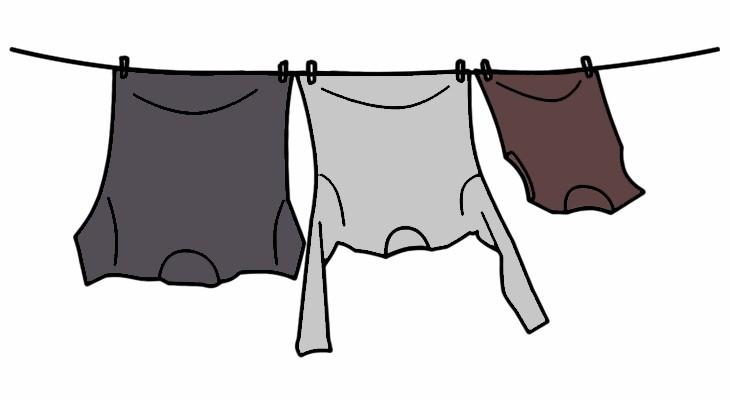 Phơi ngược giúp quần áo nhanh khô