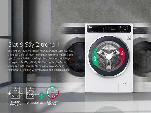 Sử dụng máy giặt sấy