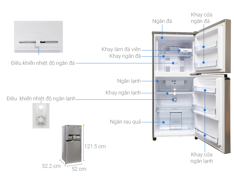 Tủ lạnh Panasonic NR-BA178PSV1 Inverter 152 lít 1