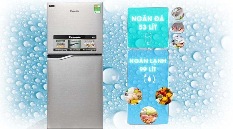 Tủ lạnh Panasonic NR-BA178PSV1 Inverter 152 lít 3