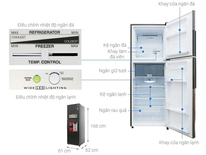 Tủ lạnh Sharp X316EDS Inverter 287 lít 1