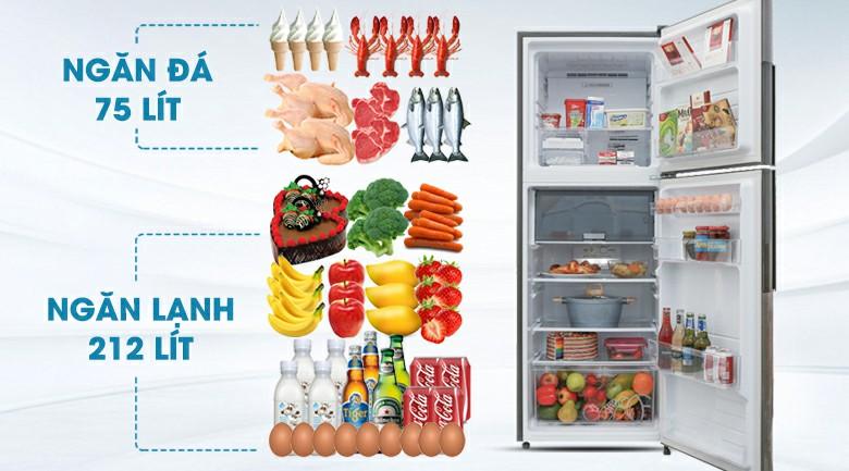 Tủ lạnh Sharp X316EDS Inverter 287 lít 3