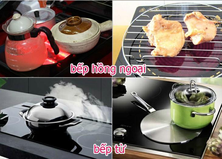 bếp từ và bếp hồng ngoại