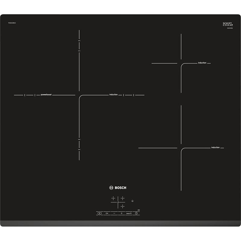Bếp từ Bosch PUC631BB2E Thiết kế 3 vùng nấu thông minh, 17 cấp độ nấu ăn