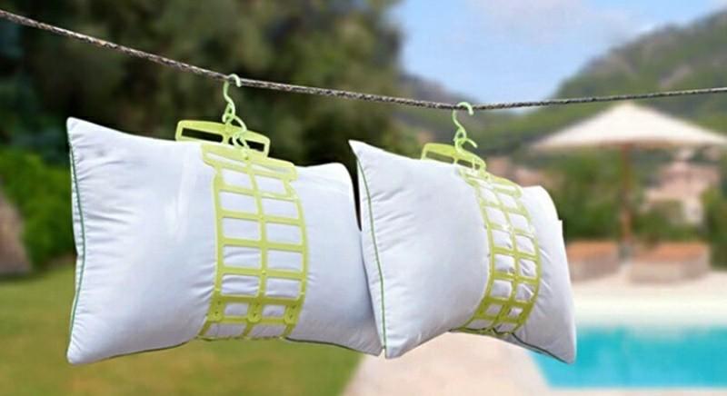 giặt gối bằng máy giặt