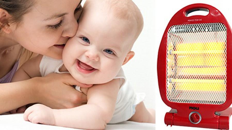 lưu ý khi dùng quạt sưởi cho bé
