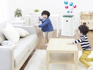máy lọc không khí với nhà có trẻ em