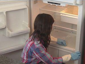 Lau sạch các vật dụng trong tủ lạnh