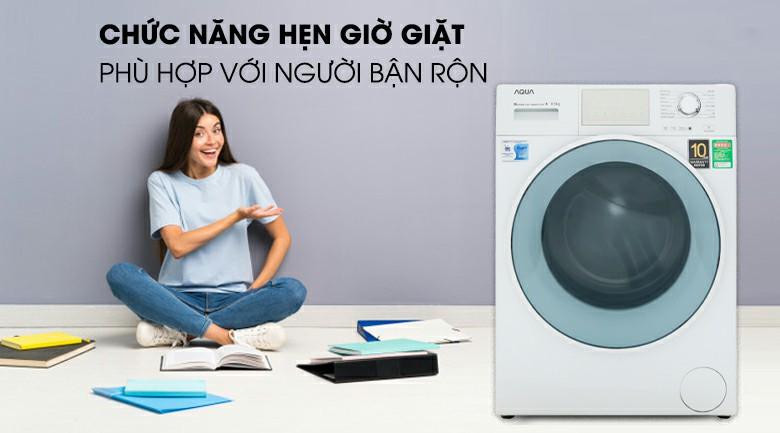 Máy giặt AQUA AQD-D850E W Inverter 8.5 kg 8