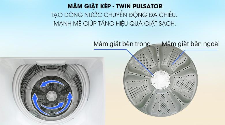Máy giặt lồng đứng Aqua 10 kg AQW-FR100ET.H 2
