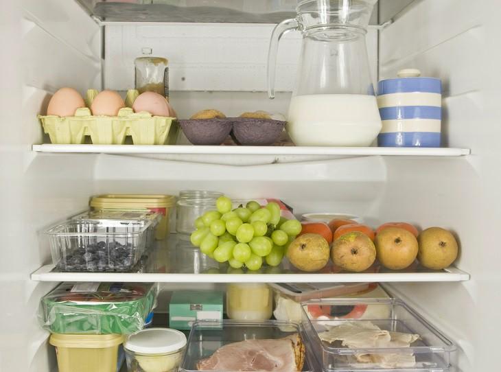 Phân loại đồ ăn theo khu vực tủ lạnh