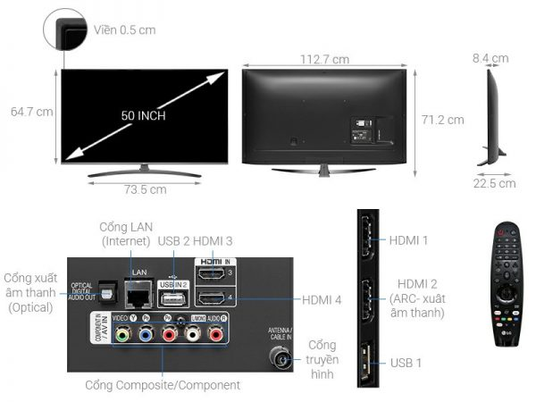Smart Tivi LG 50UM7600PTA 50 inch 15