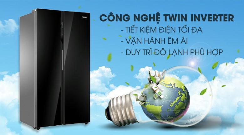 Tủ lạnh AQUA AQR-IG696FS Inverter 602 lít 3
