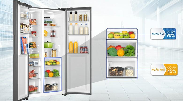 Tủ lạnh AQUA AQR-IG696FS Inverter 602 lít 6