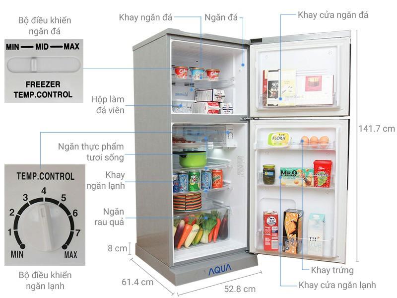 Tủ lạnh AQUA AQR-S205BN 186 lít 5