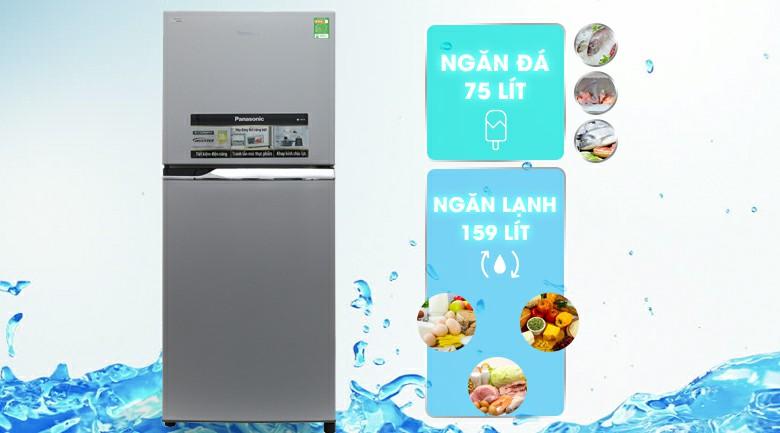 Tủ lạnh Panasonic NR-BL267VSV1 Inverter 234 lít 2