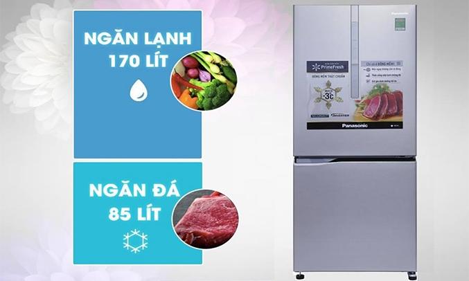 Tủ lạnh Panasonic NR-BV289XSV2 Inverter 255 lít 1