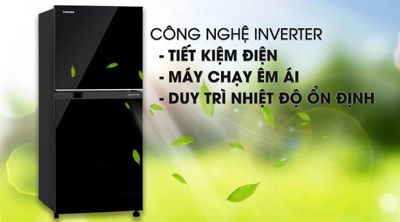 Tủ lạnh Toshiba Inverter 194 lít GR-A25VM (UK) công nghệ inverter