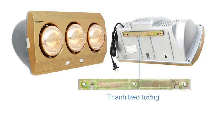 Đèn sưởi 3 bóng Kangaroo KG3BH01 5