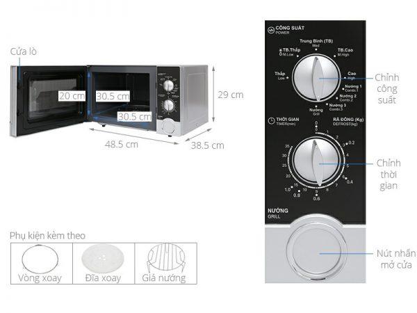 Lò vi sóng Sharp R-G302VN-S 23 lít 7
