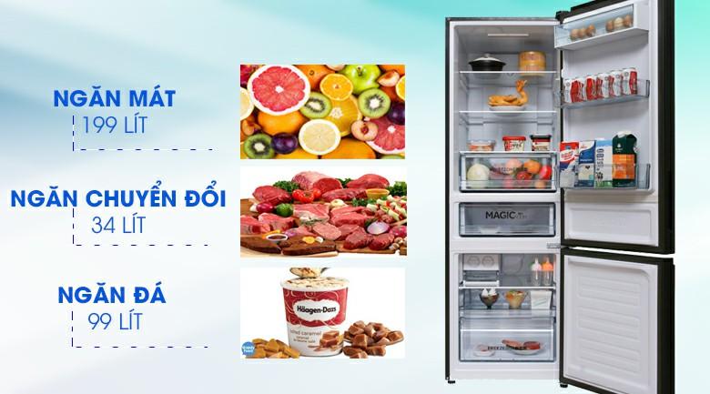 Tủ lạnh AQUA AQR-IG378EB (GB) Inverter 324 lít 2