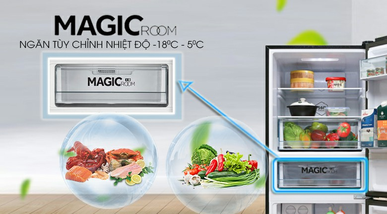 Tủ lạnh AQUA AQR-IG378EB (GB) Inverter 324 lít 6