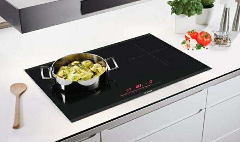 Bếp từ Bosch PPI82560MS 2 vùng nấu lớn cho phép chọn vùng nấu có kích thước thích hợp cho các nồi tương ứng