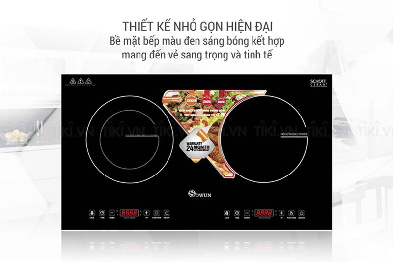 Bếp hồng ngoại Midea MC-HD305 Thiết kế nhỏ gọn, hiện đại