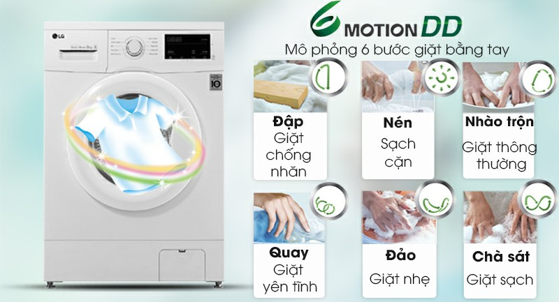 Máy giặt LG FM1208N6W Inverter 8kg 5