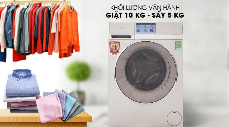 Máy giặt sấy AQUA AQD-D1000HT Inverter 10kg 2