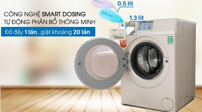 Máy giặt sấy AQUA AQD-D1000HT Inverter 10kg 5