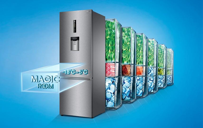 Tủ lạnh AQUA AQR-IW338EB SW Inverter 317 lít 10