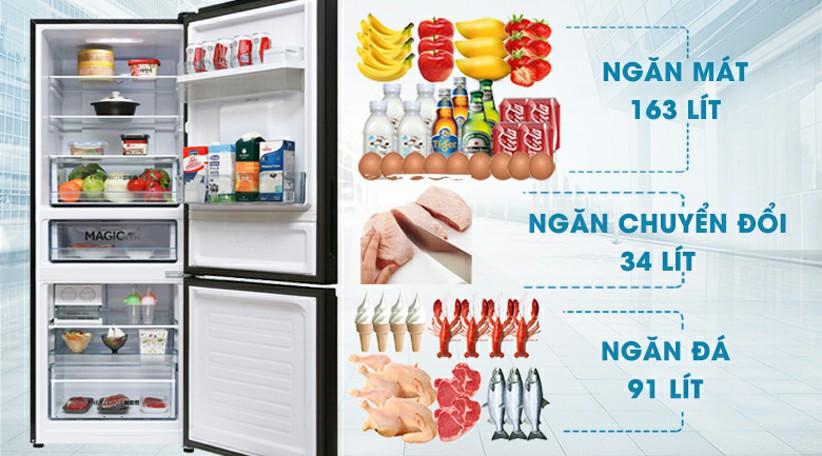Tủ lạnh AQUA AQR-IW338EB SW Inverter 317 lít 2