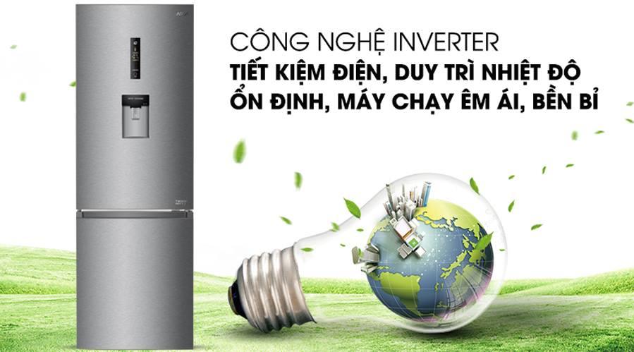 Tủ lạnh AQUA AQR-IW338EB SW Inverter 317 lít 3
