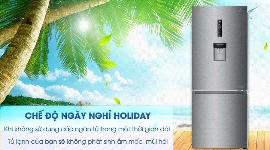 Tủ lạnh AQUA AQR-IW338EB SW Inverter 317 lít 8