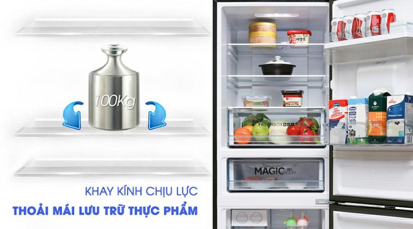 Tủ lạnh AQUA AQR-IW338EB SW Inverter 317 lít 9