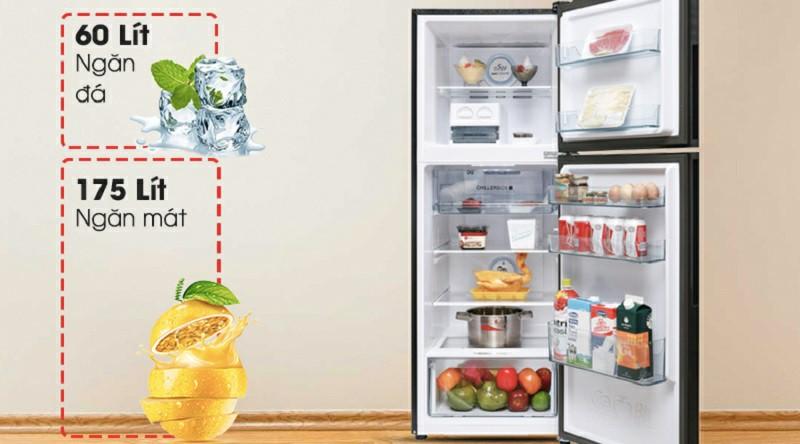 Tủ lạnh AQUA AQR-T249MA(SV) Inverter 235 lít 2