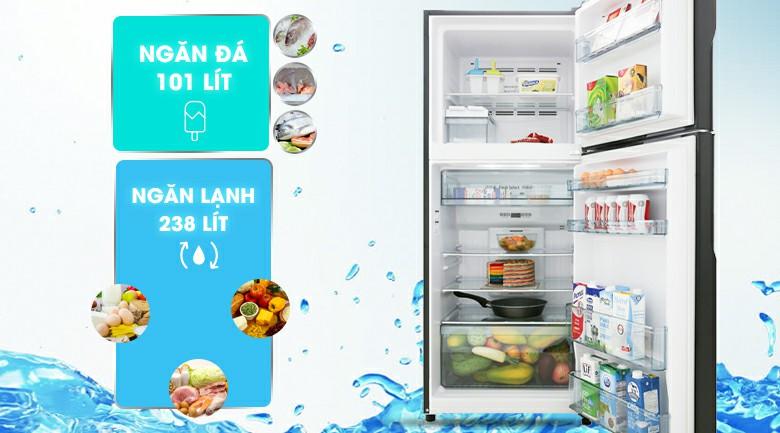 Tủ lạnh Hitachi R-FG450PGV8 GBK Inverter 339 lít 2