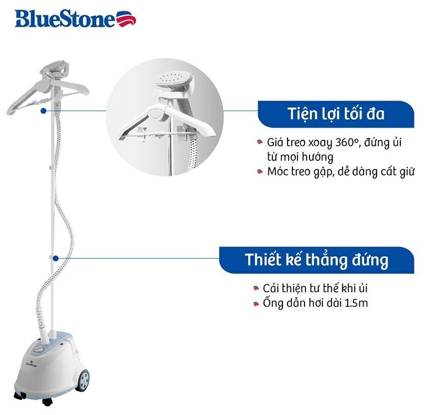 Bàn ủi hơi nước đứng Bluestone GSB-3911 tiện ích