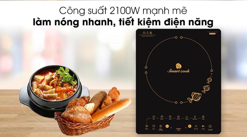 Bếp từ Elmich Smartcook ICS-3872 Mâm từ cao cấp, hiệu quả gấp 2 lần
