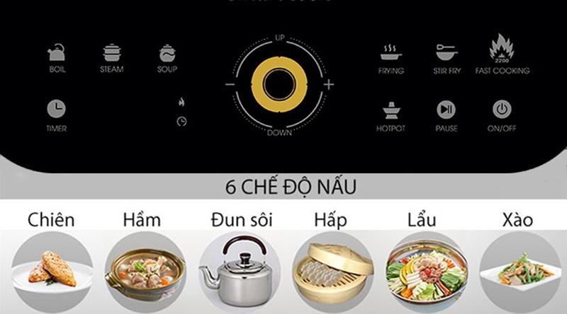 Bếp từ Elmich Smartcook ICS-3873 Đa dạng chế độ nấu, lựa chọn dễ dàng với bảng điều khiển cảm ứng