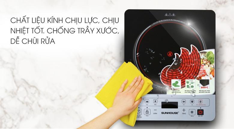 Bếp hồng ngoại Sunhouse SHD6005 mặt bếp chịu lực