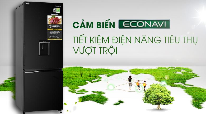 Tủ lạnh Panasonic Inverter 290 lít NR-BV320WKVN cảm biến enconavi