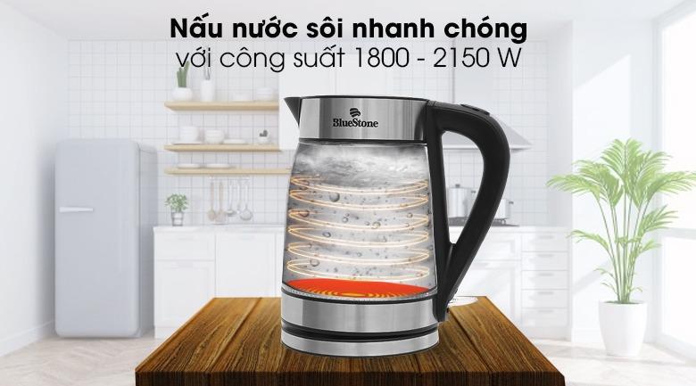 Ấm siêu tốc Bluestone KTB-3426 1.7 lít nấu nước nhanh