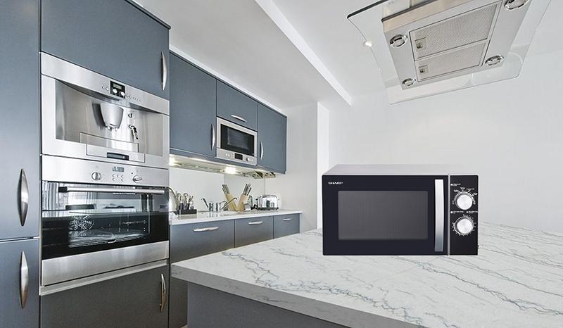 Lò vi sóng Sharp 23 lít có kiểu dáng hiện đại tô điểm không gian bếp