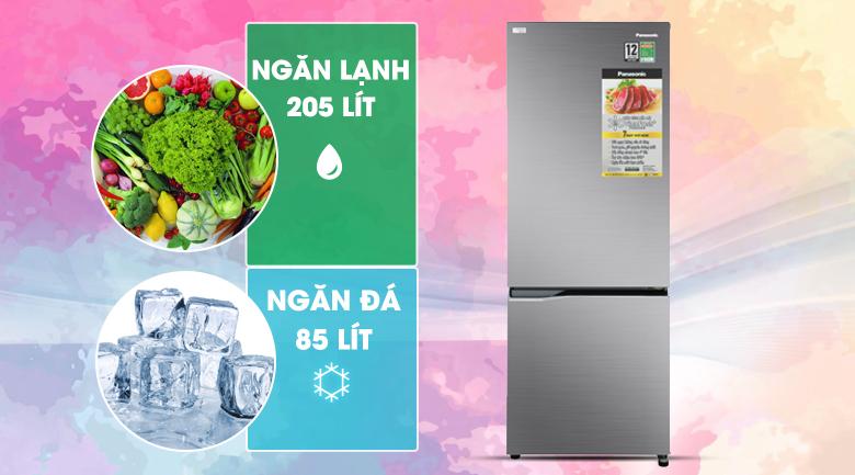 Tủ lạnh Panasonic Inverter 290 lít NR-BV320QSVN kích thước tiêu chuẩn phù hợp