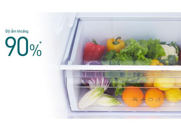 Tủ lạnh Panasonic Inverter 322 lít NR-BV360QSVN ngăn rau củ