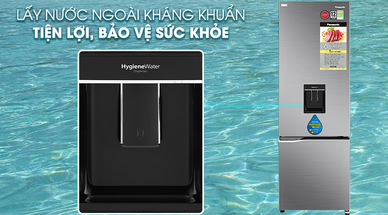 Tủ lạnh Panasonic Inverter 322 lít NR-BV360WSVN lấy nước kháng khuẩn